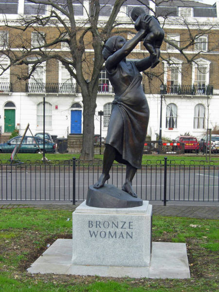 Guyanese Women In History Cécile Nobrega Scholar Musician - This beautiful bronze sculpture has been attached to a tree since 1968