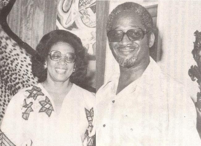 Viola Burnham and husband, former President of Guyana Lindon F.S. Burnham