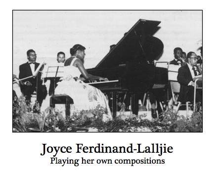 Pianist Joyce Ferdinand-Lalljie