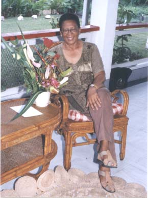 Former First Lady, Viola Burnham,