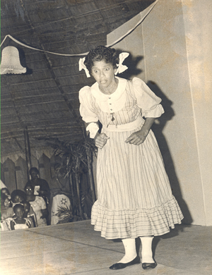 """Patricia Gomes performing in """"Tapestry"""" in July 1978"""