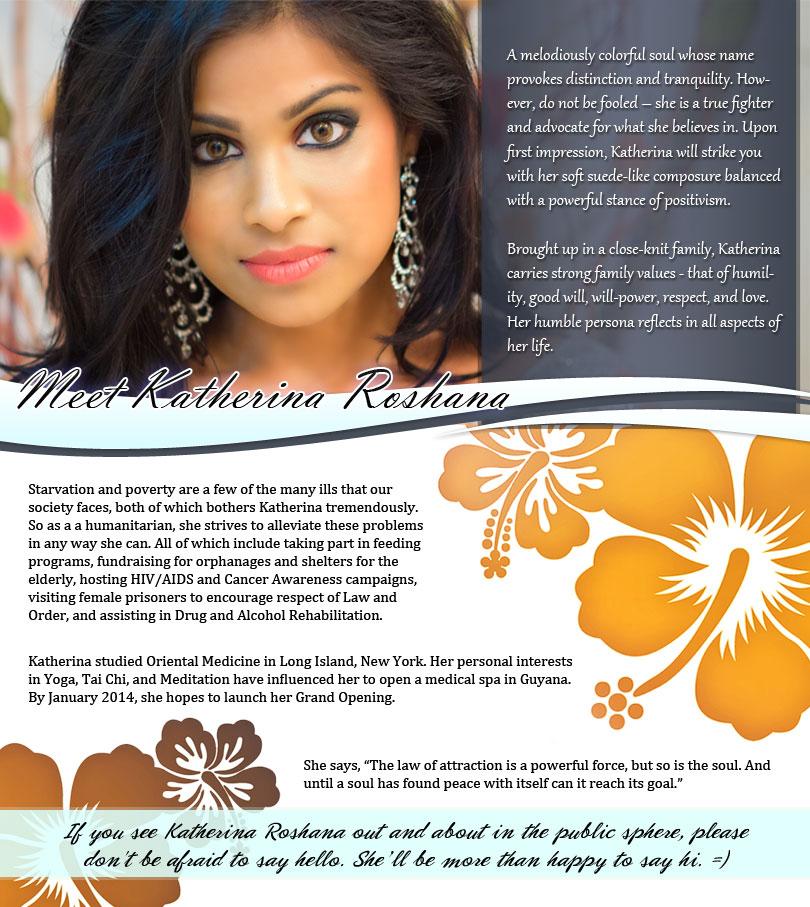 Katherina Roshana, Miss India Guyana 2013