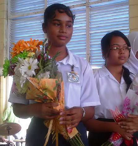Top Students Zimeena Rasheed  & Yogeeta Persaud