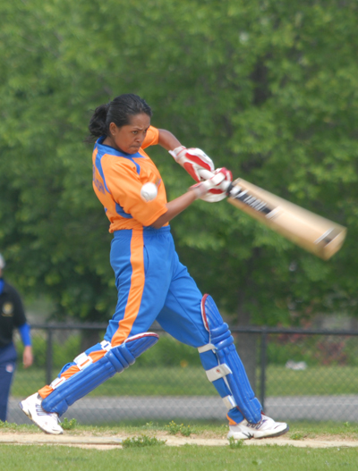 ndomatie Goordial-John during her spectacular 96 against the New Jersey Phoenix.  Photo by Shiek Mohamed