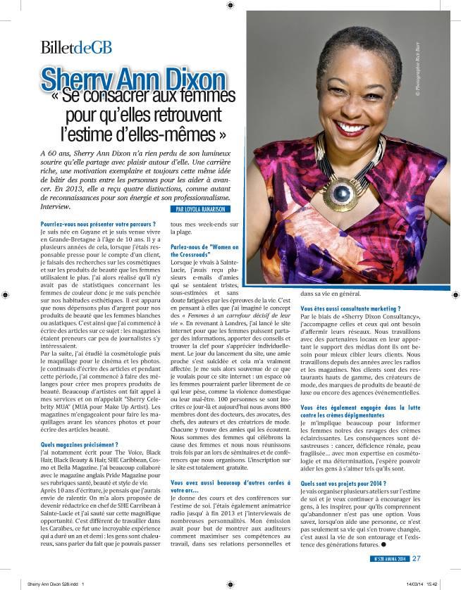 Sherry-Ann Dixon in Amina Magazine