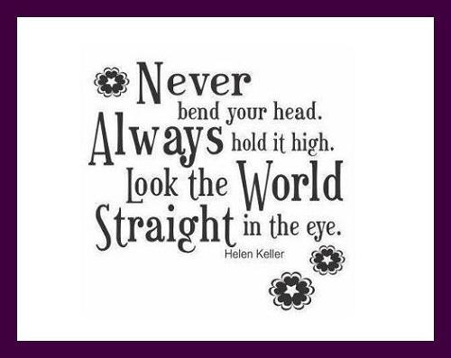 Keep you Head Up