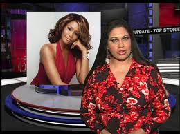 TV Producer Tanuja Raghoo paying tribute to Whitney Houston