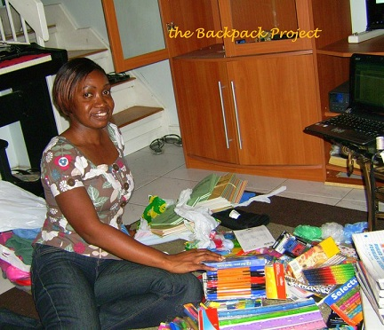 Melissa Enmore, The Backpack Project
