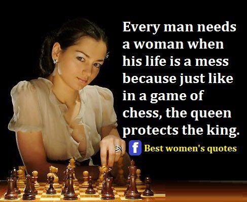 Every man needs a queen in his life!