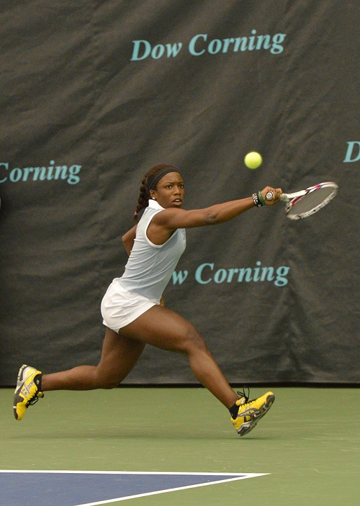 Sachia Vickery at the 2013 Dow Corning Tennis Classic