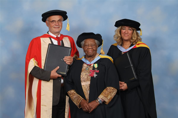 Dame Sybil Theodora Phoenix DBE, MBE in the middle