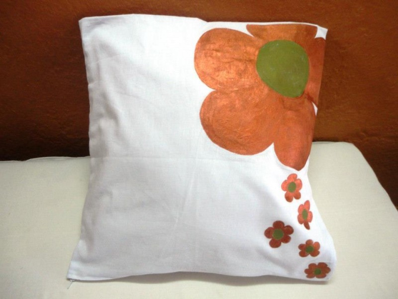 Hand painted cotton cushion covers