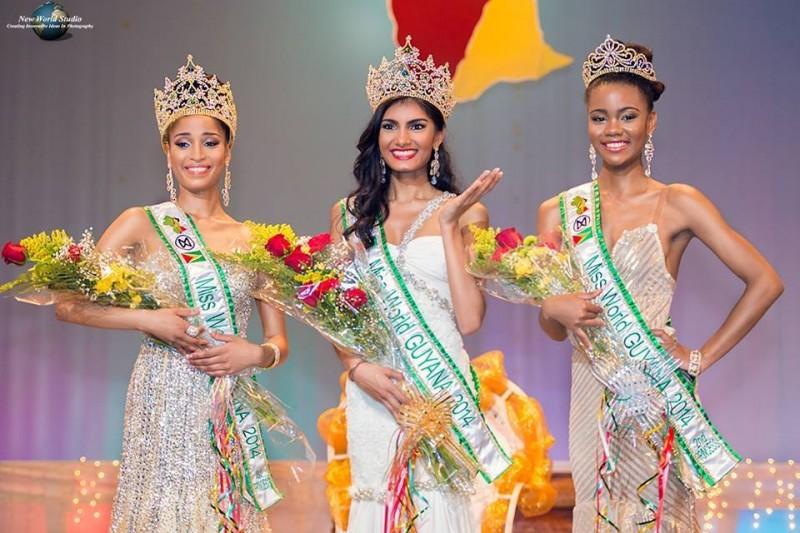 Crowning of Miss World Guyana 2014