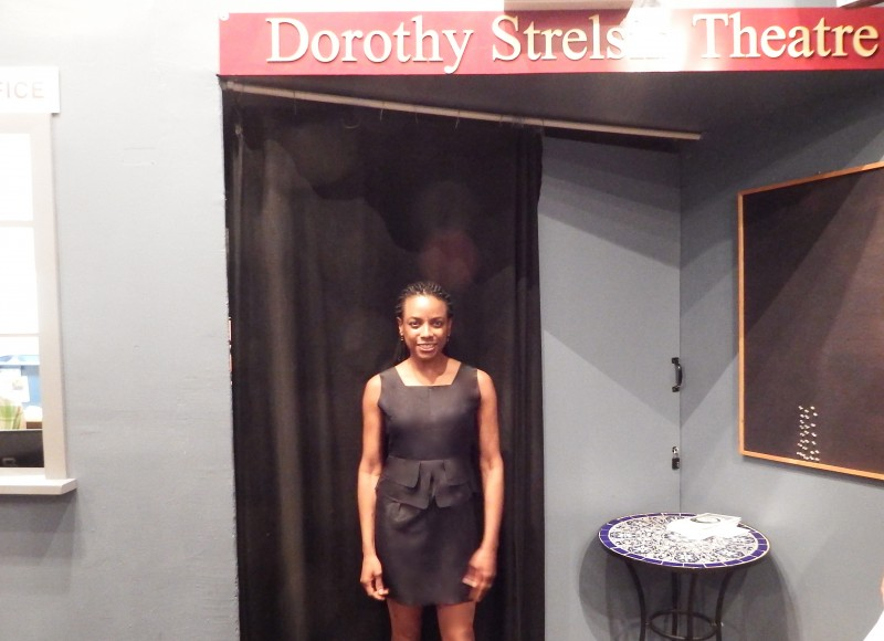 Ingrid Griffith following her performance at the Dorothy Strelsin Theatre