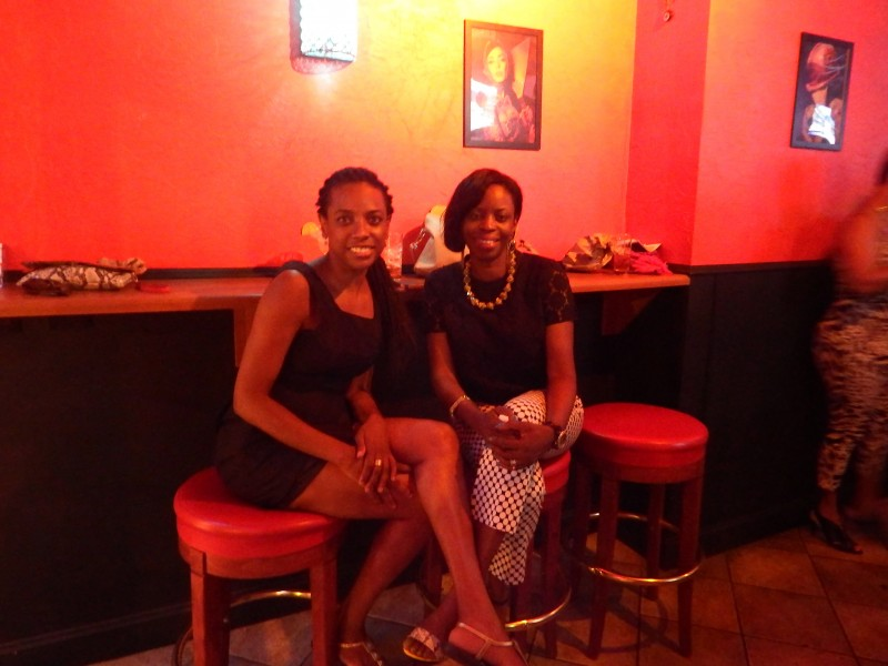 Ingrid Griffith and GGR Founder, Cloyette Harris-Stoute at Taboo Bar in NYC