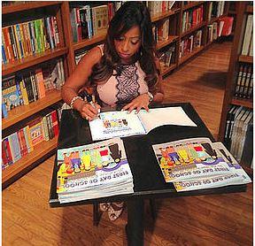Author Jennifer Bisram at a recent book signing.