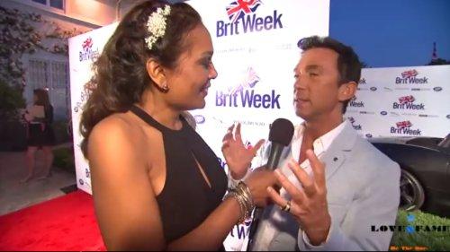 Rianna Scipio interviewing Dancing with the Stars, Bruno Tonioli