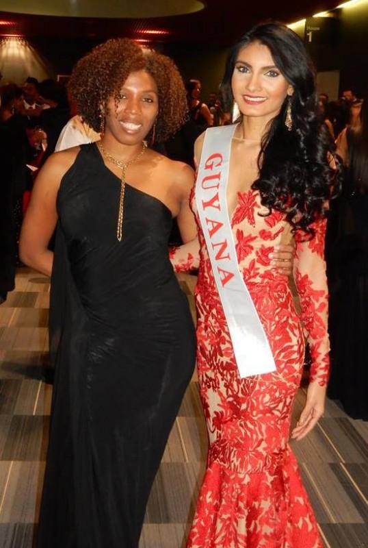 Rafieya Husain and Miss World Guyana Franchise Holder, Natasha Blu Martidale in London