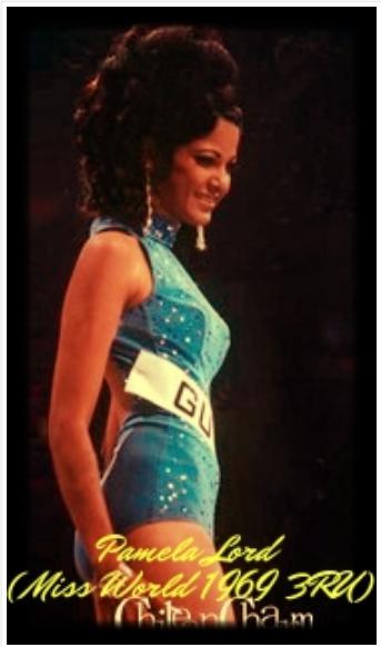 Miss World Guyana 1969, Pamela Patricia Lord