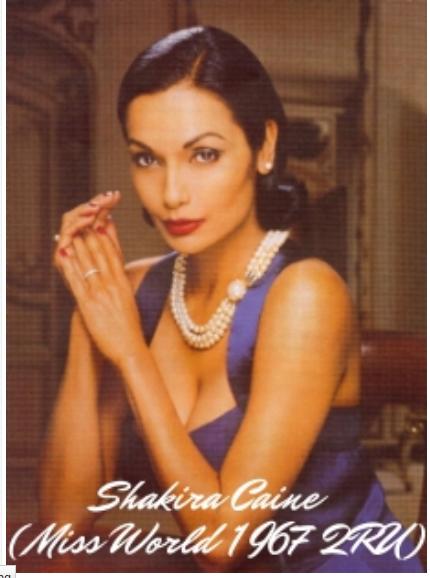Miss World Guyana 1966, Shakira Baksh Caine