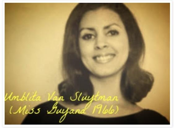Miss World Guyana 1966, Umblita Van Sluytman