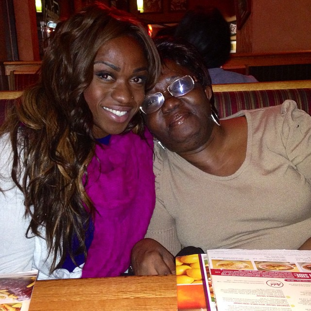 Alana with her Guyanese mom