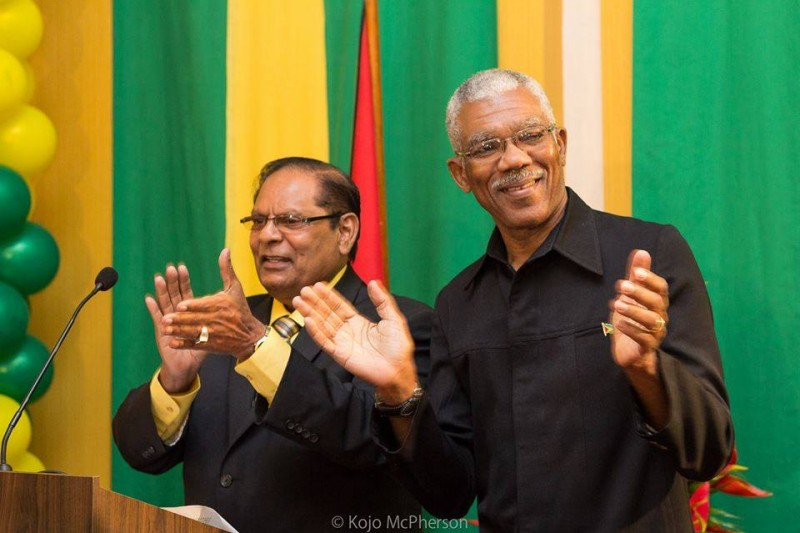 President David Granger and Prime Minister Moses Nagamootoo