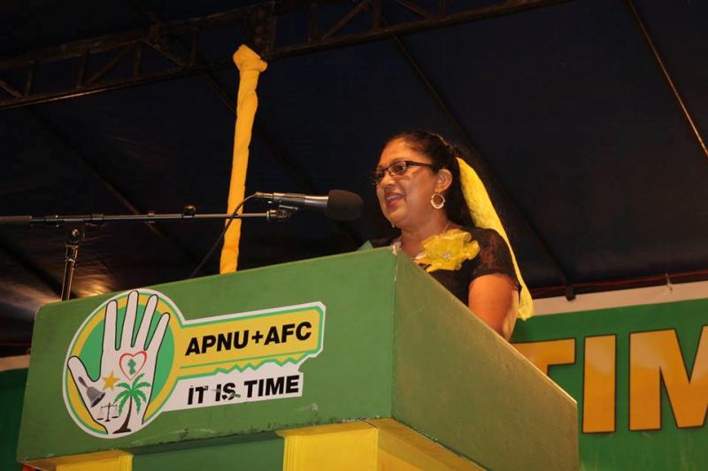 Mrs. Sita Nagamootoo, wife of Guyana's Prime Minister, Moses Nagamootoo