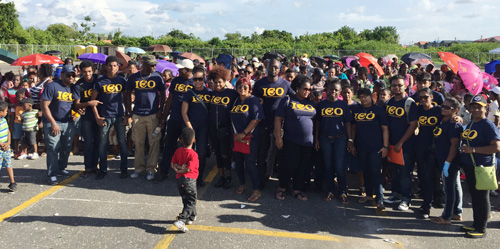 CO volunteers at back-to-school event in Guyana