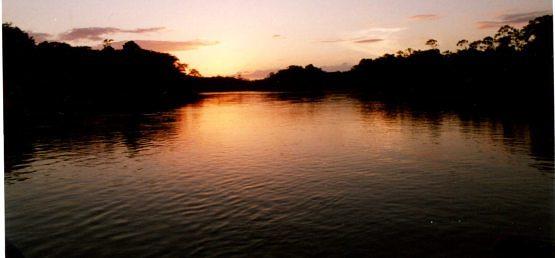 Sunset at Karanambu